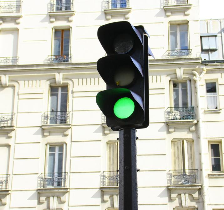 Paris feux tricolores